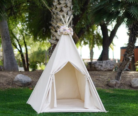 Pocahontas lace teepee kids Teepee tipi Play tent wigwam or playhouse with canvas and Overlapping front doors & Pocahontas lace teepee kids Teepee tipi Play tent wigwam or ...