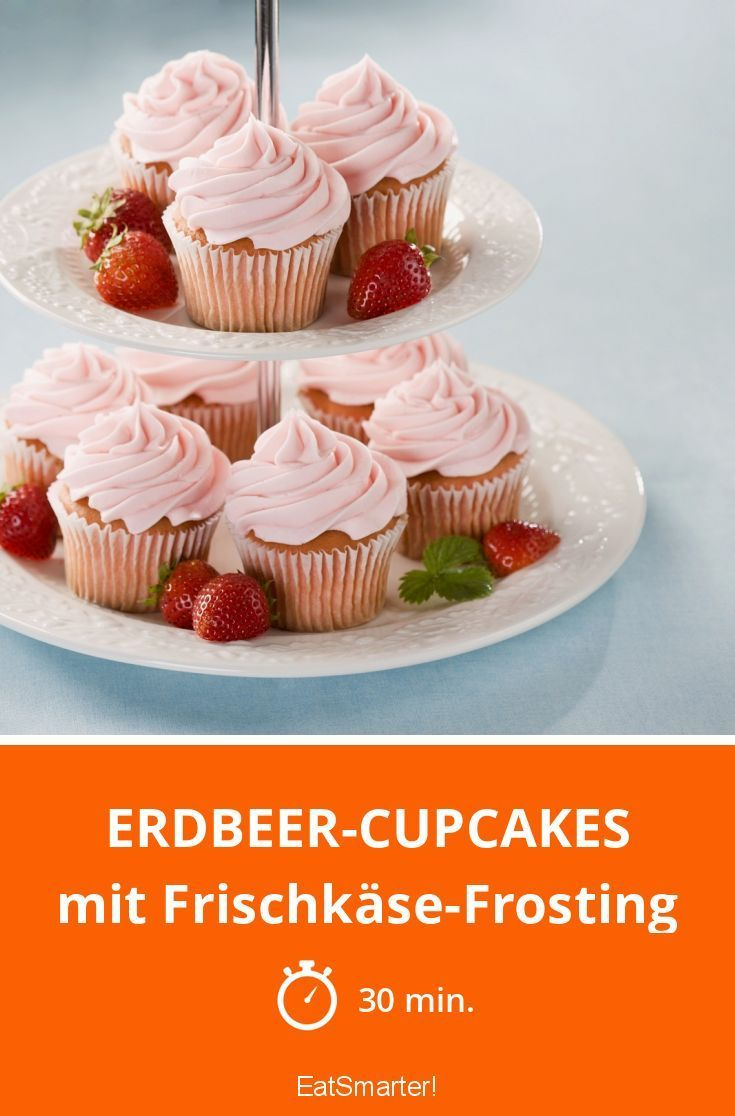 Erdbeercupcakes   - Kuchen -