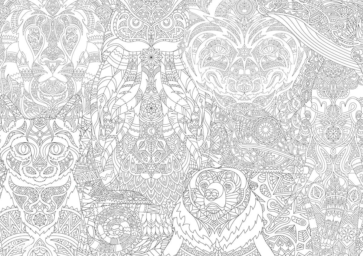 Free Download The Hardest And Most Detailed Coloring Page In