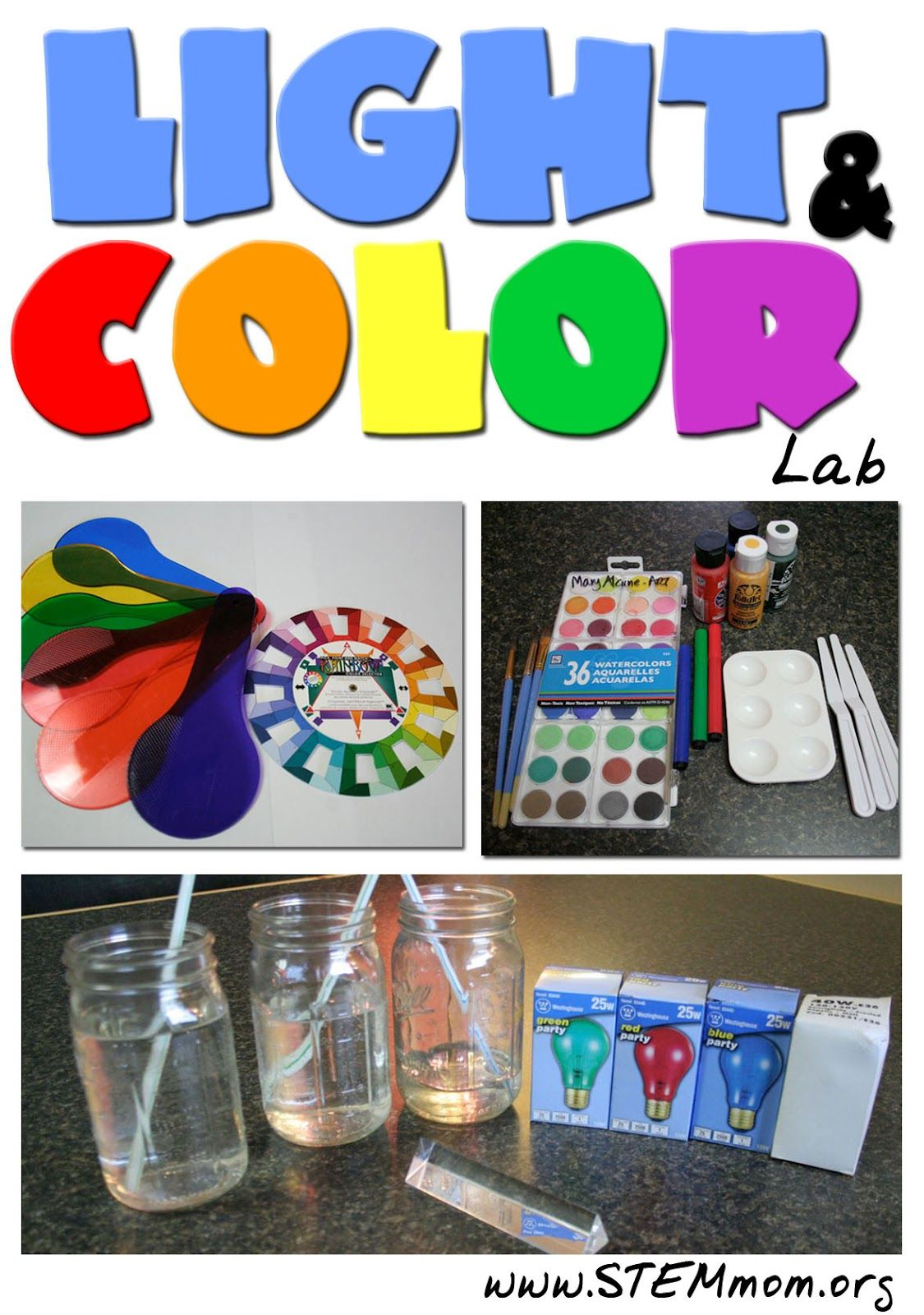 color and light lab concepts covered additive substractive color refraction and properties. Black Bedroom Furniture Sets. Home Design Ideas