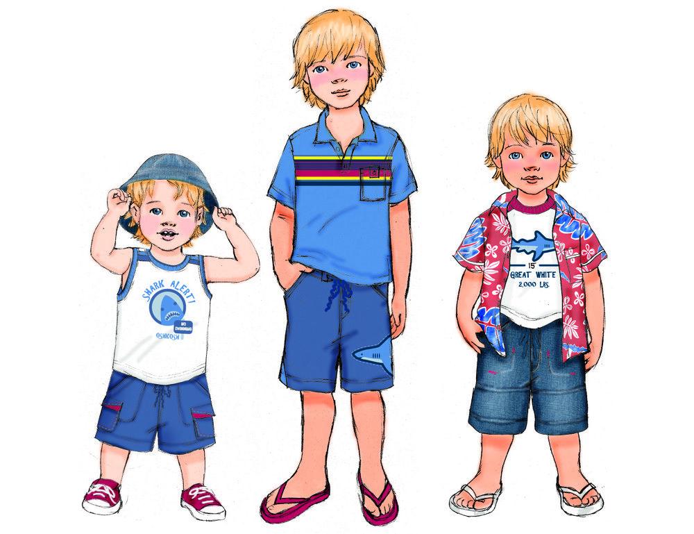 Рисунок летняя одежда