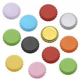 50 Mixed Color Bottle Caps Craft Scrapbook Jewelry (50)
