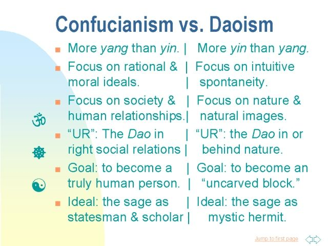 Comparison of taoism and confucianism