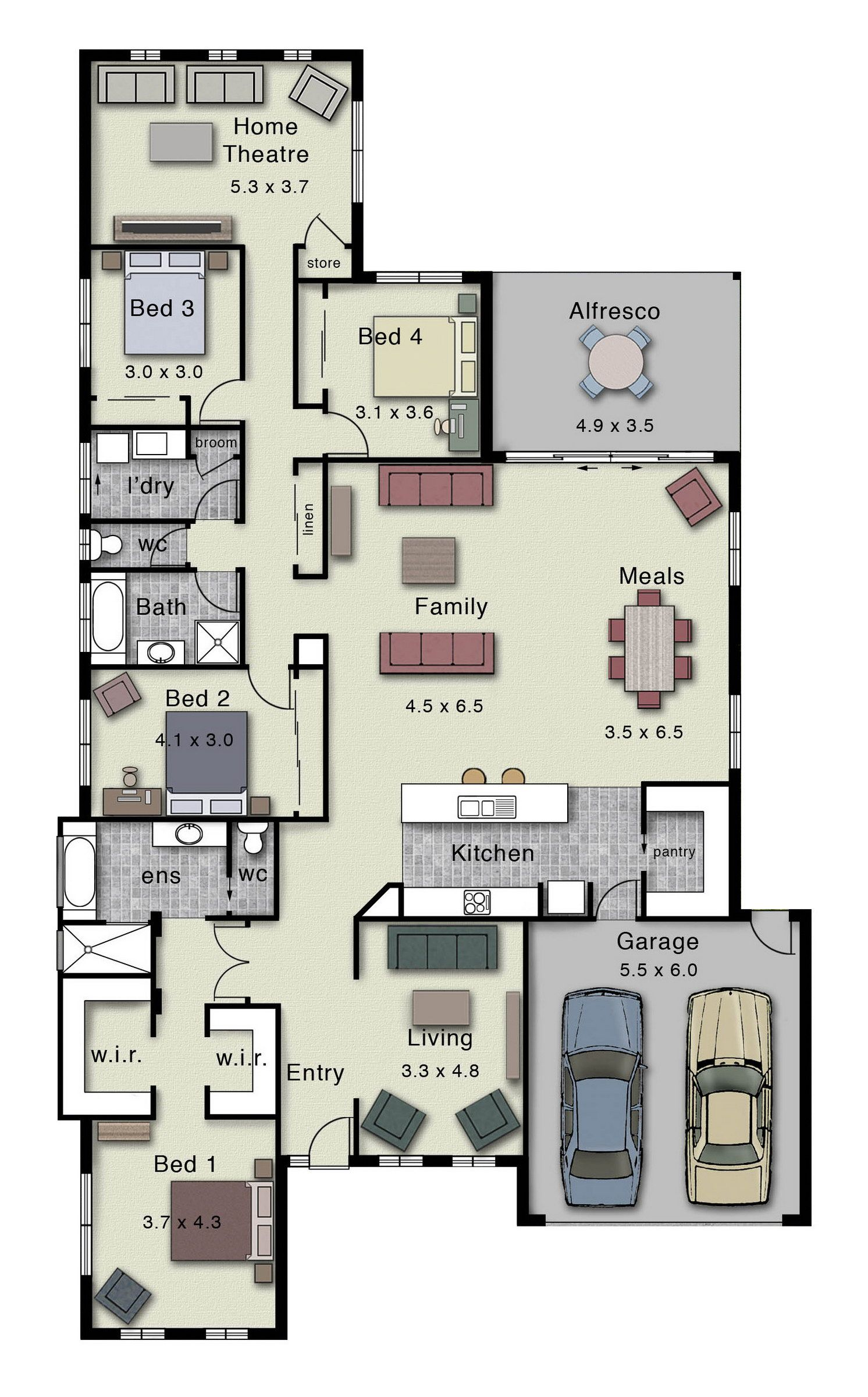 The dakota 302 offers a centralised kitchen living and for Dakota floor plan