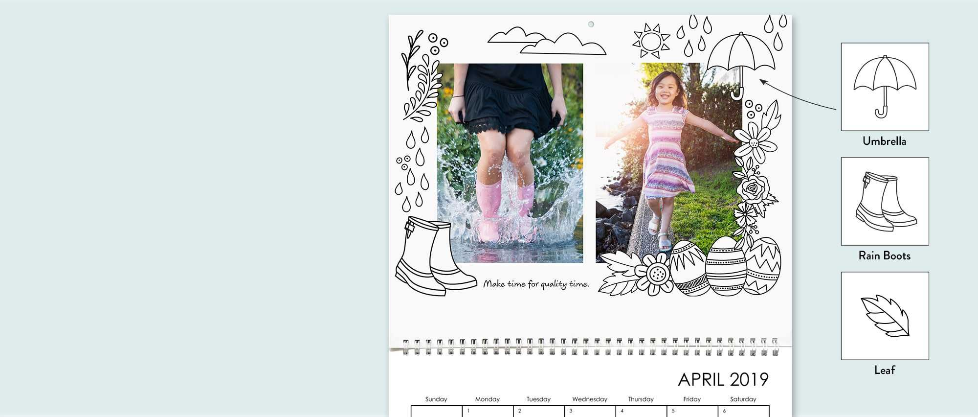 12 Month Personalized 8 5x11 Photo Wall Calendar Snapfish Us Wall Calendar Photo Calendar Custom Wall Calendars