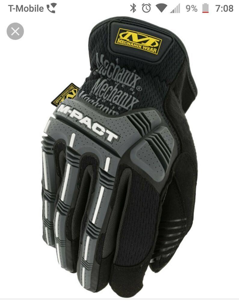 3b0b1f1d5 Mechanix Wear M-Pact Impact Protection Black / Grey Gloves (MPT-58 ...