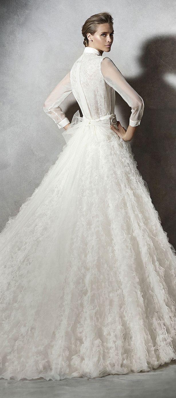 Design your own wedding dress cheap  Pronovias  Bridal Collection  Part    wedding dresses