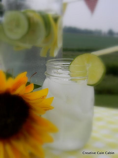 Spa WaterSpa Water      1 gallon drinking water  1 cucumber sliced  1 lime sliced  1 lemon sliced  Place all the slices into the pitcher of water and Enjoy!