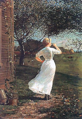Homer, Winslow (1836-1910) - 1870 The Dinner Horn