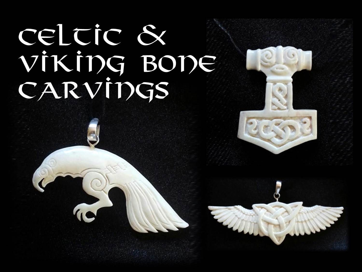 Celtic And Viking Bone Carvings Hand Carved Jewelry Bone Carving Bone Jewelry