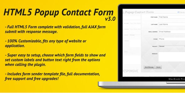 Html Pop Up Contact Form With Ajax  Html Pop Up Contact Form