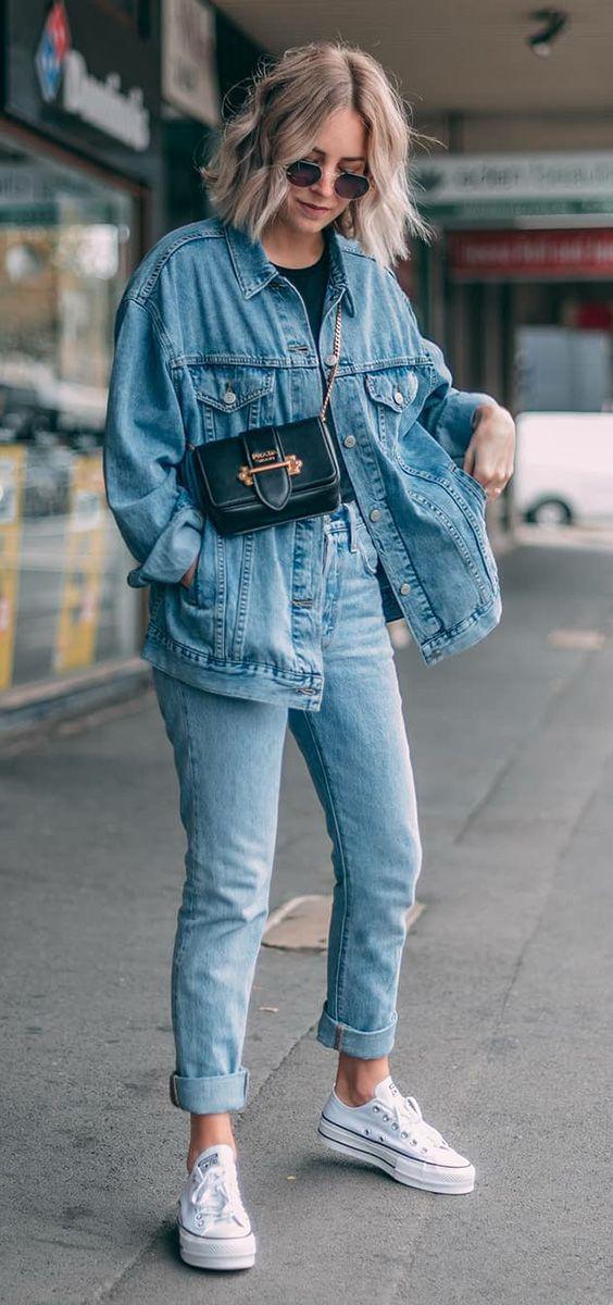Como usar all star no look da balada - Guita Moda. Jaqueta jeans oversized f6004125c25