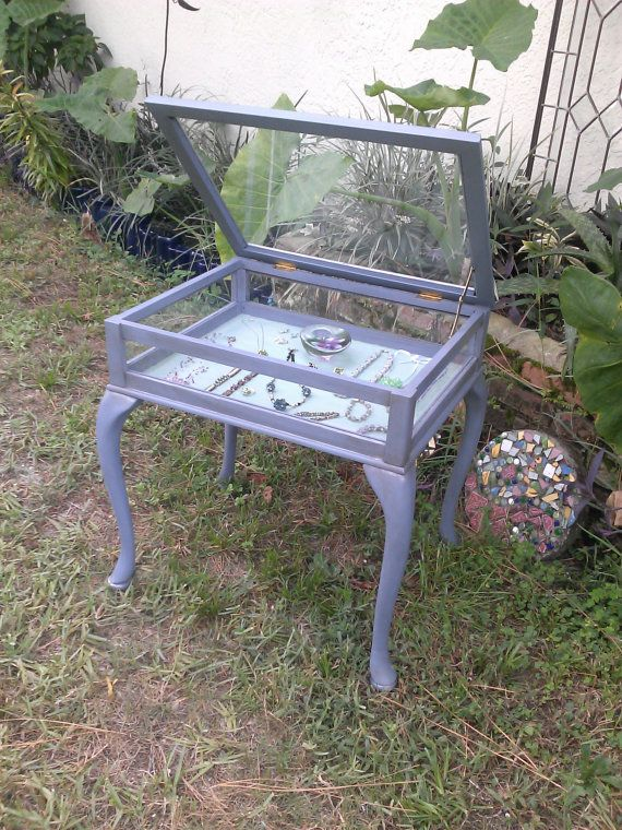 Glass Display Box Table Old Violet Annie by RightUpMyAlleyDesign, $195.00 SOLD