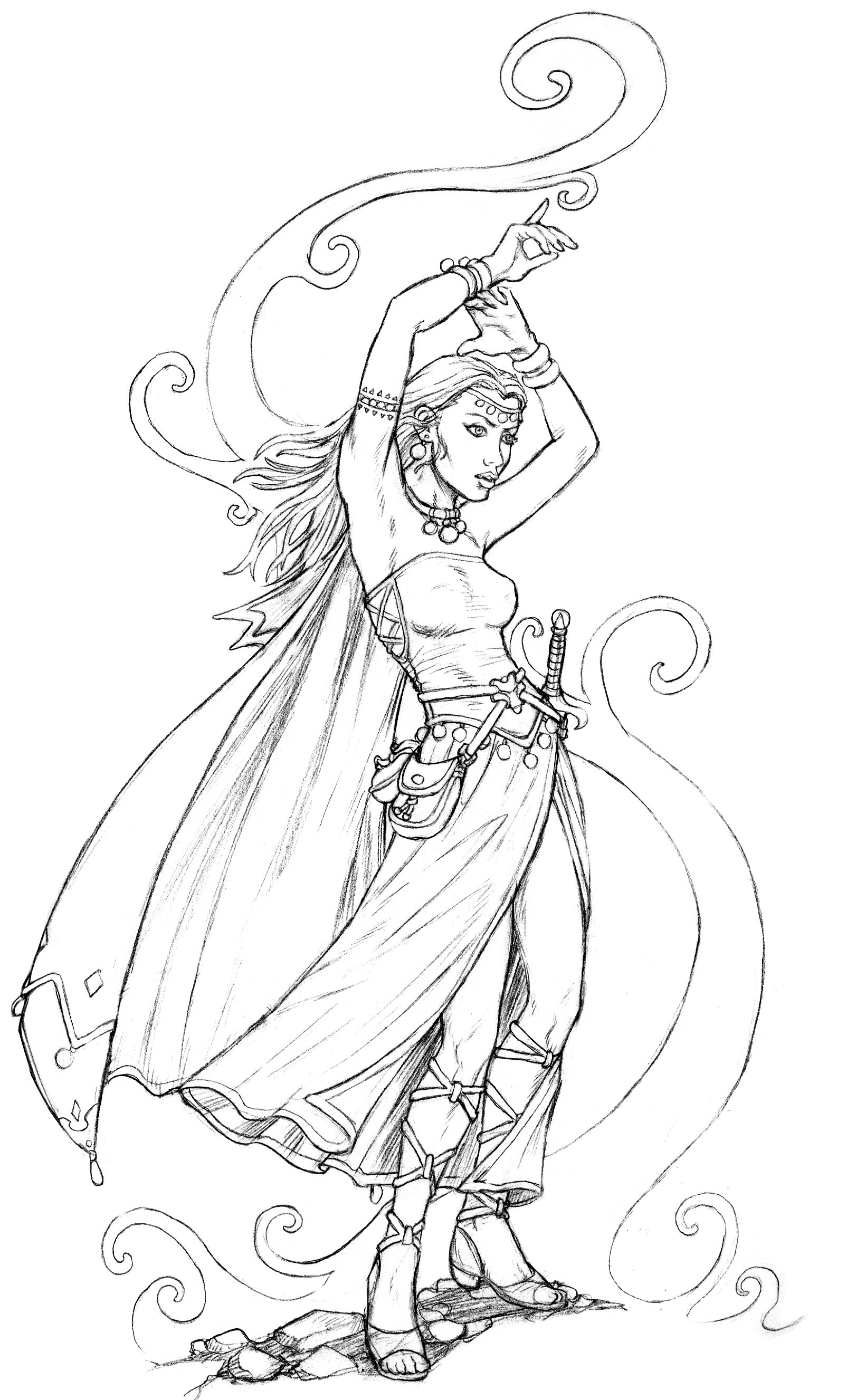 Advanced Dungeons And Dragons Myths Legends Coloring Pages For