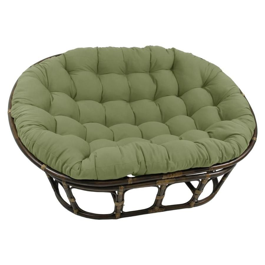 Blazing Needles 65 In By 48 In Solid Twill Double Papasan Cushion