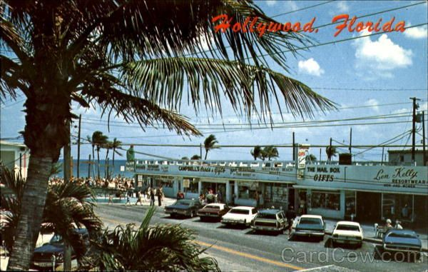 Map Of Hollywood Florida.Hollywood Beach Boardwalk Map Street With The Famous Hollywood