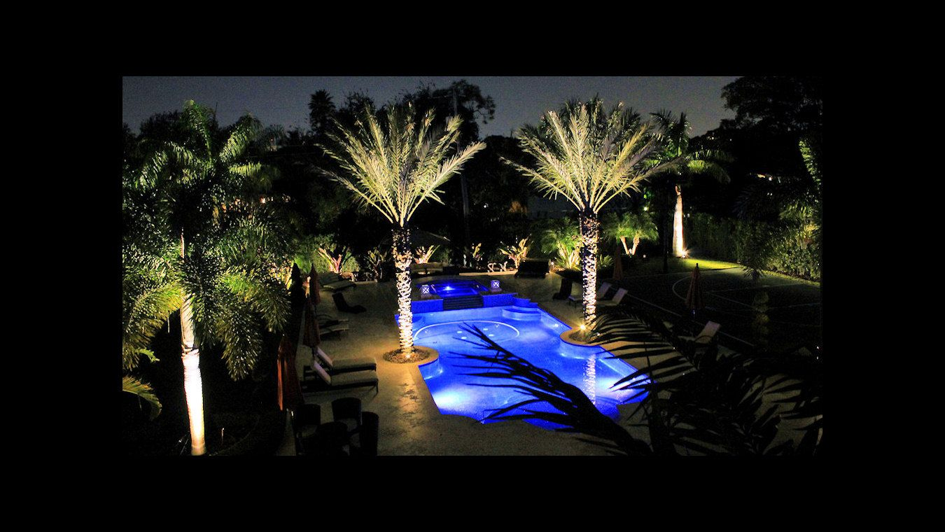 outdoor lighting miami. Outdoor Lighting Miami. Miami Landscape Lighting. Pool And Backyard Illuminated With Done By A