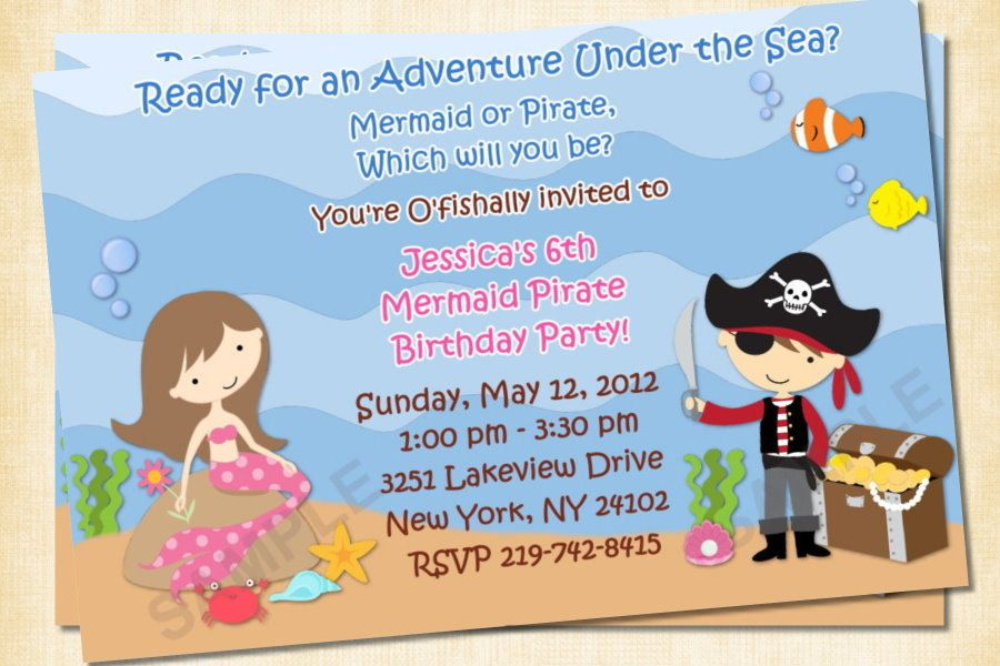pirate birthday party invitations | Holidays and events | Pinterest ...