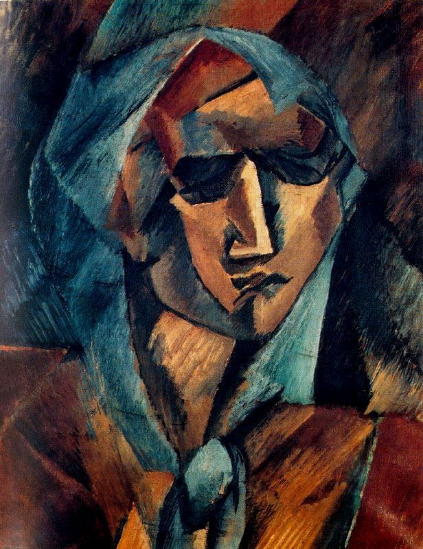 Georges braque head of a woman 1909 oil on canvas for Braque peintre