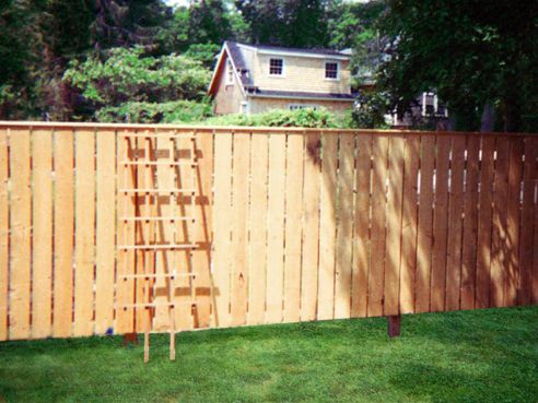 Fence Boards Are 1 X 6 X 6 High Rough Sawn Spruce Fence Cap Rail Is Pine Moulding Fence Boards Fence Modern Design