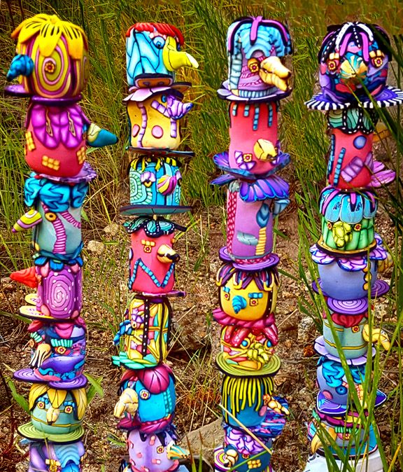 Totems By Alice Stroppel. Pingree Polymer Totem Swap