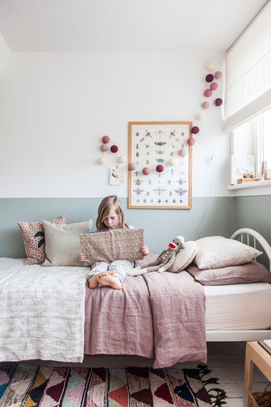 mur bicolore chambre d\'enfant | Kids bedroom | Chambre enfant ...