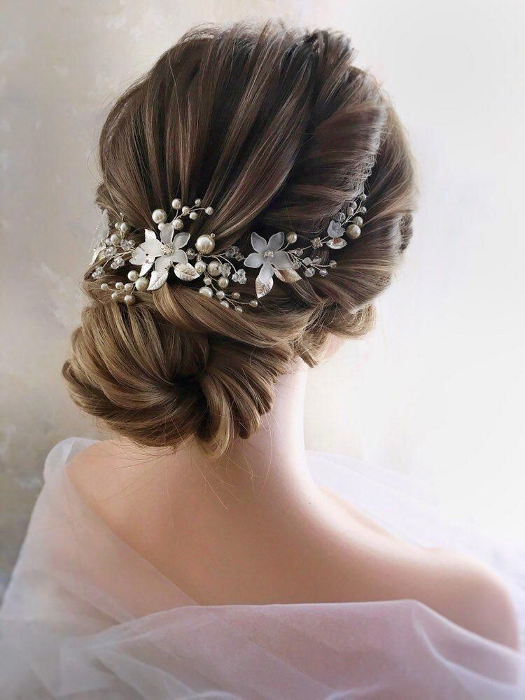 Bridal Hair Vine Bridal Headpiece Pearl Wedding Hairpiece | Etsy