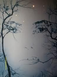 Woman in trees