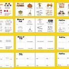 $2.95 Fall Mini Books  3 Separate Books – Emergent Readers4 versions of each book-Easy Assembly – 12 books in all-8 Pages Per Book   - Use for guid...