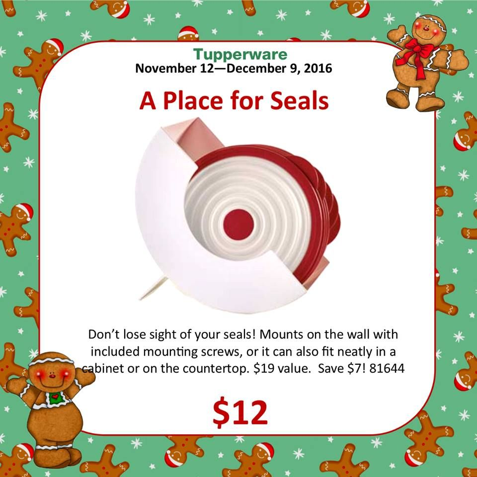 Tupperware A Place for Seals On sale for 12 Tupperware