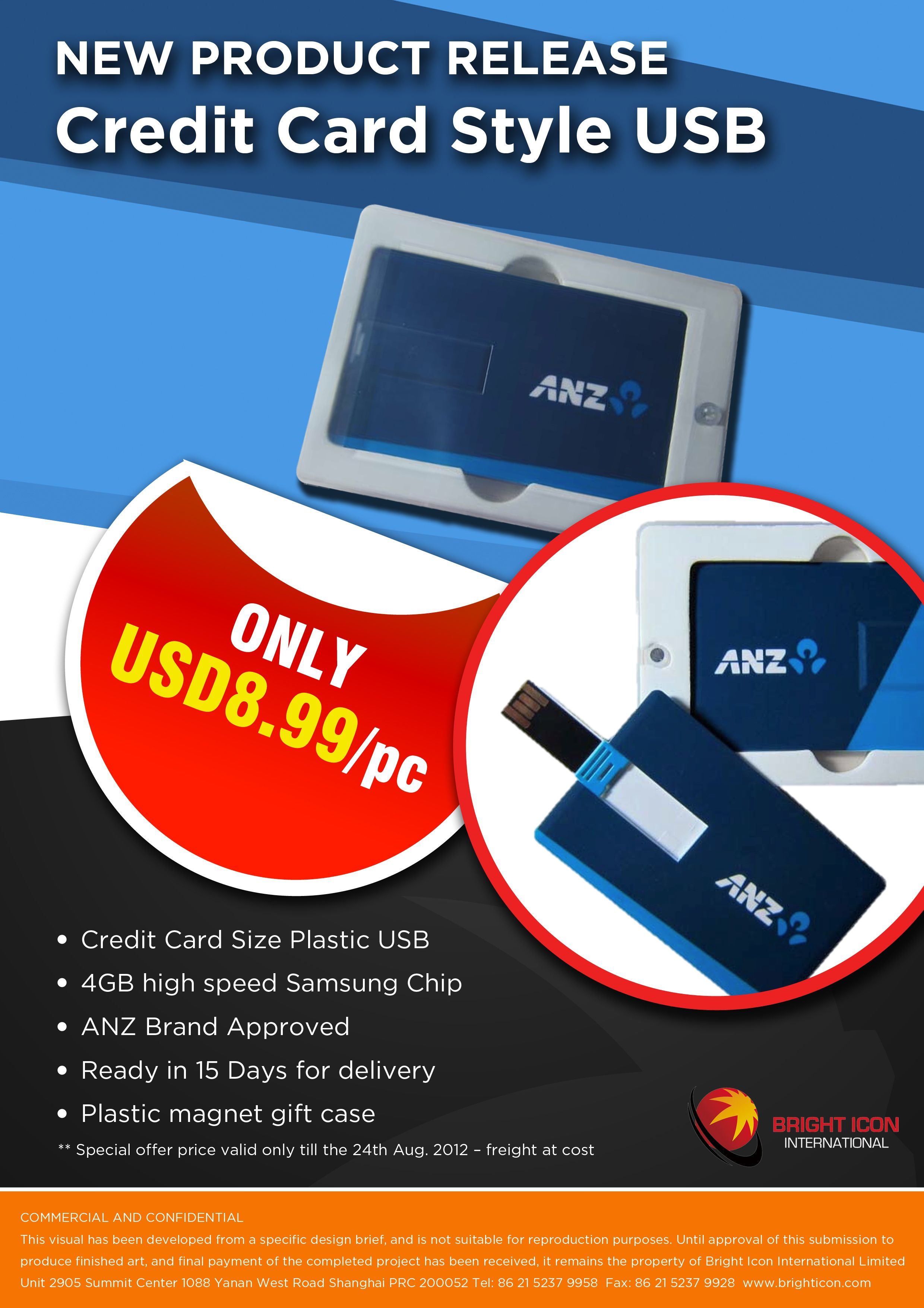 ANZ - Credit Card USB - Designed by Bright Icon