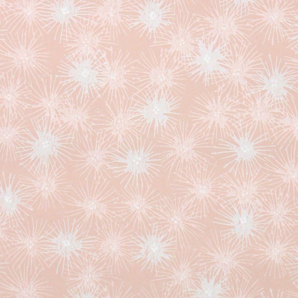 1950s Fine Graphics Vintage Wallpaper Gray Pink Starburst