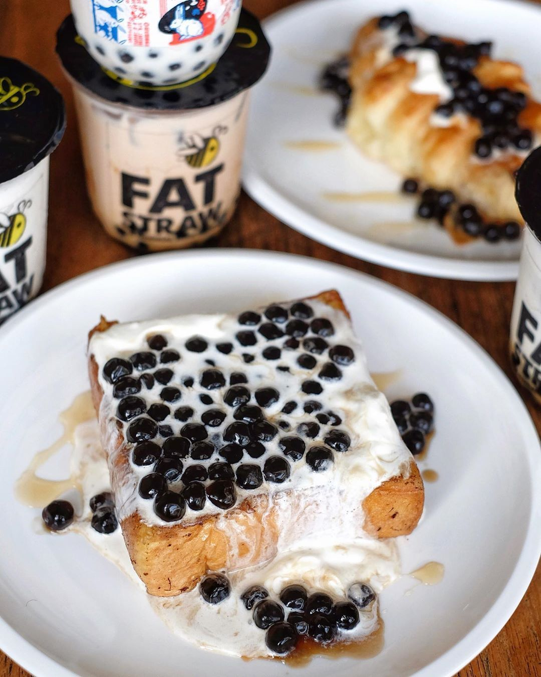 Berapa Hari Lalu Gue Nyobain Menu Barunya Dari Fatstraw Creamy Seasalt Boba Toast Roti Panggang Yang Empuk Dengan Cream Seasalt Makanan Roti Panggang Toast
