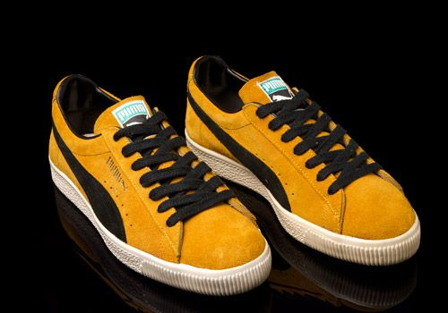 OG Puma Clyde Made In Yugoslavia in Black on Gold Colourway Photographed by Errol  Thomas   513a9cde7