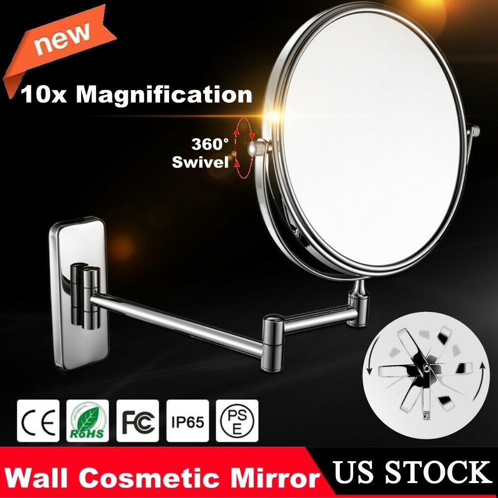 10x 1x Magnifying Light Makeup Cosmetic Mirror Wall Mount