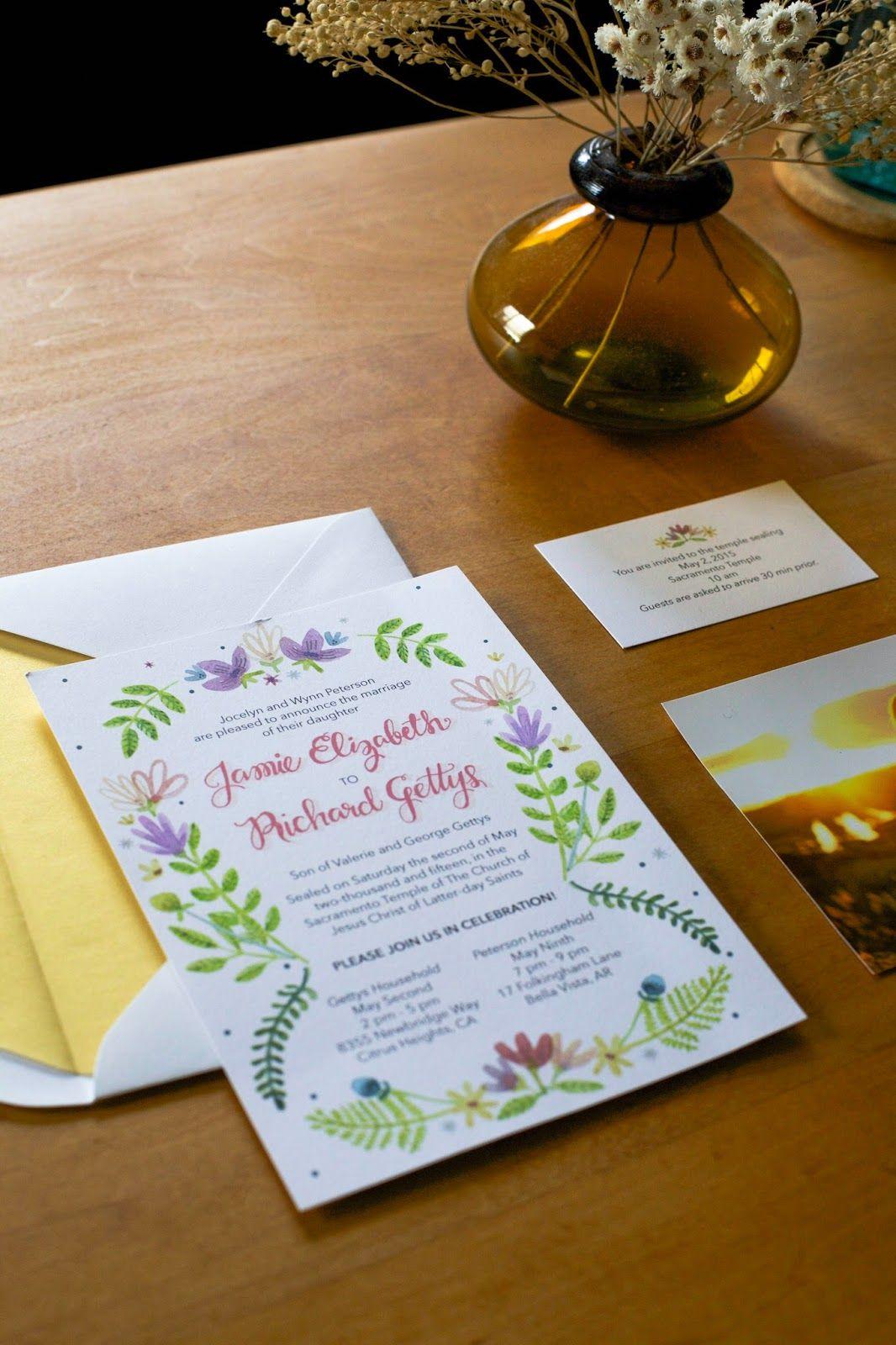 Wedding Invite Jamie + Richard Wedding invitations