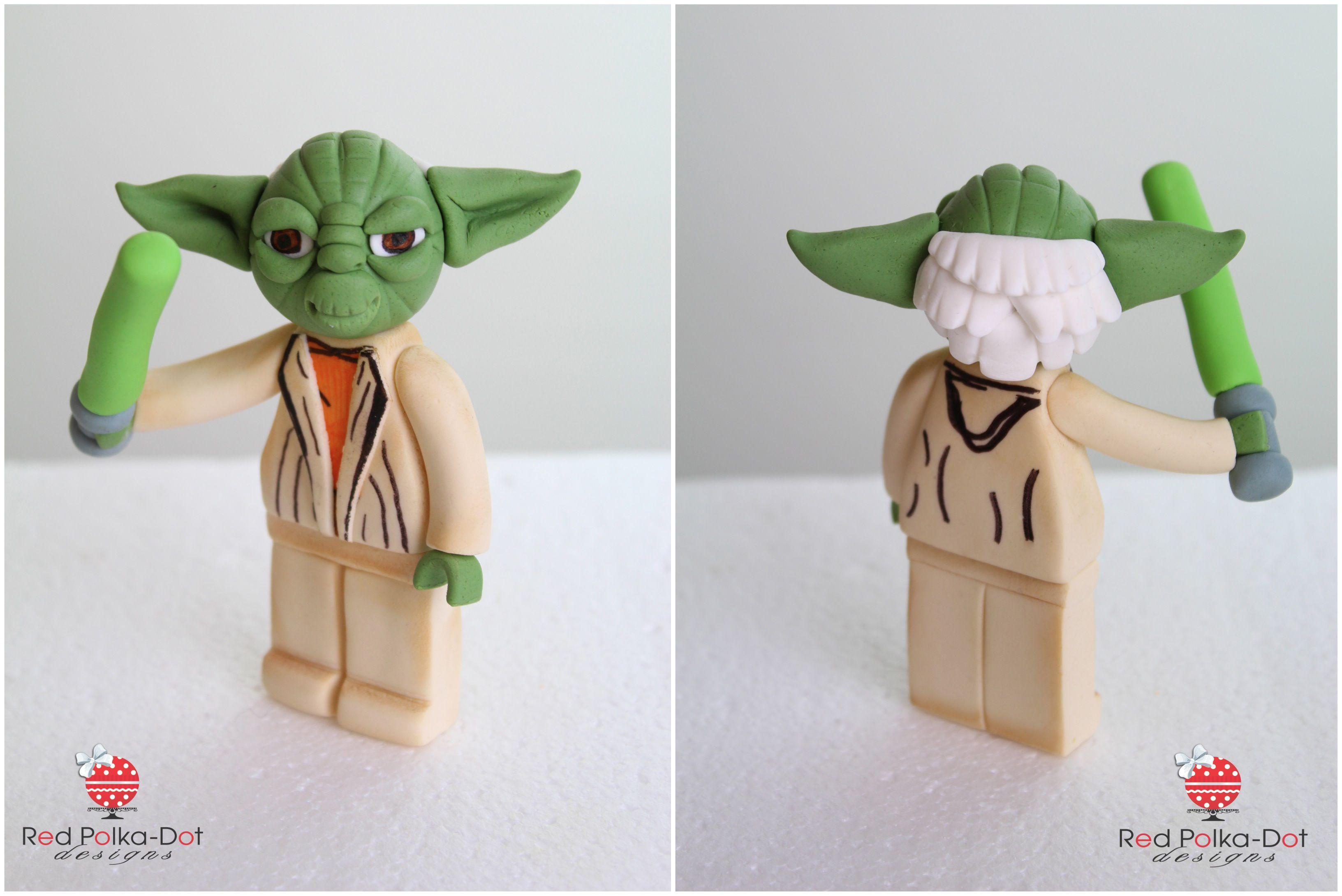lego yoda fondant figurine - Lego Yoda