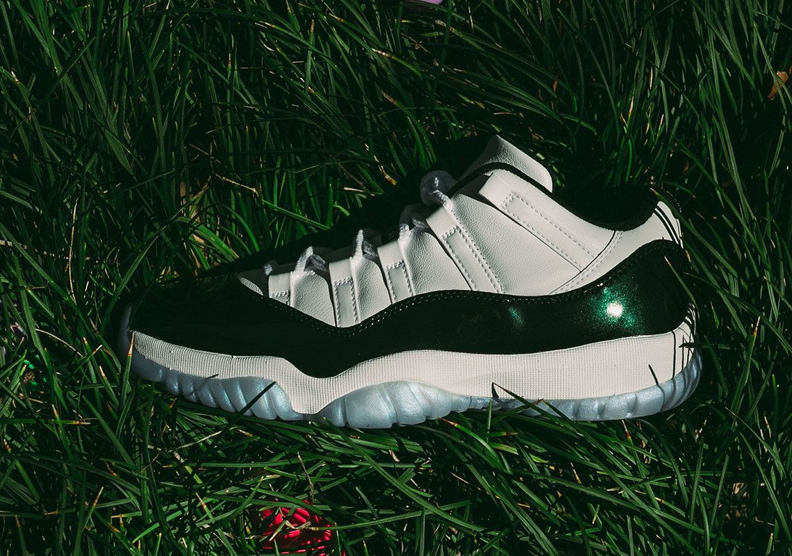 9bc12cec920 Fully Family Sizing Will Be Available For The Air Jordan 11 Low Emerald
