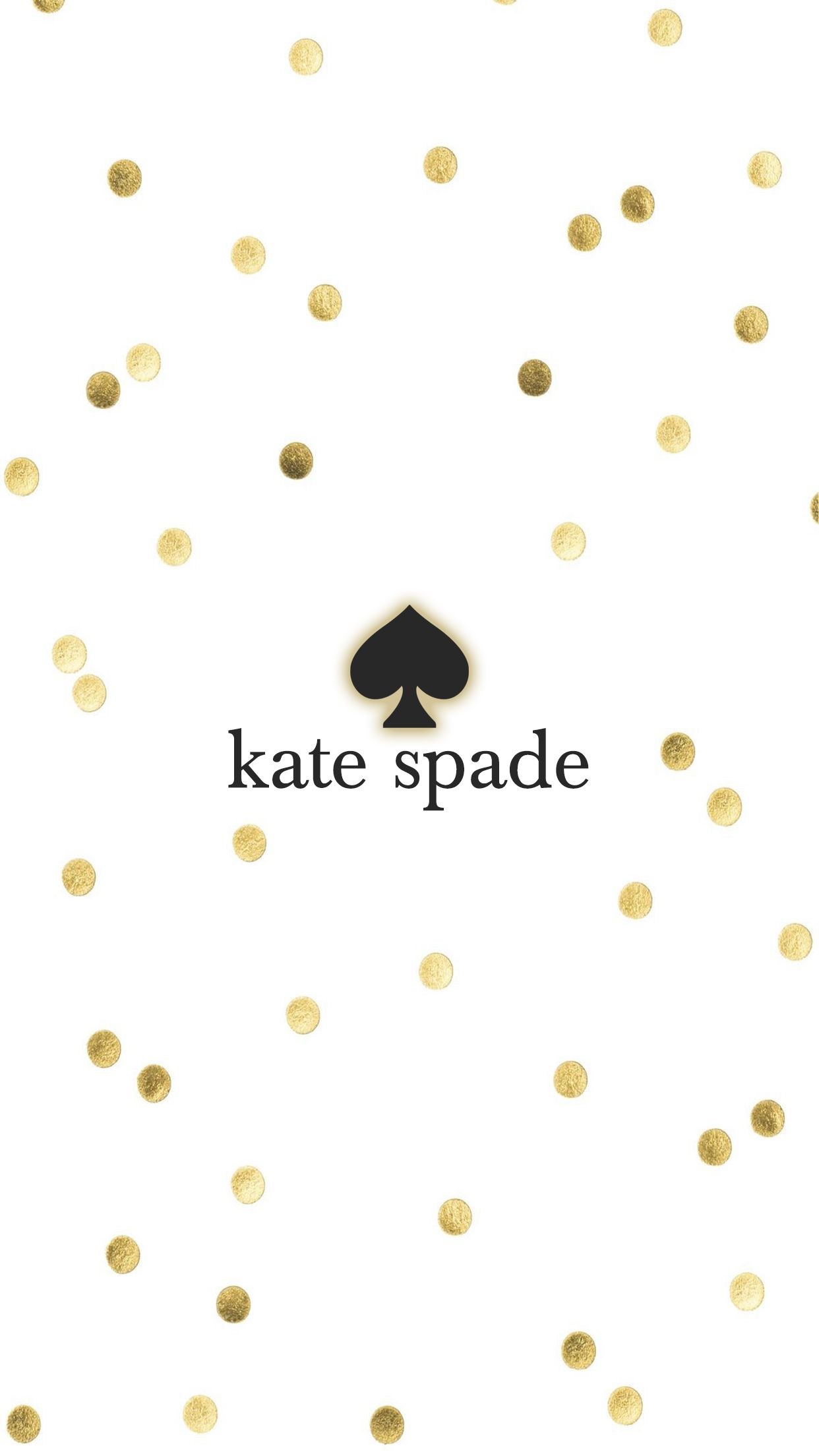 Kate Spade Gold Iphone Wallpaper Background In 2019 Kate