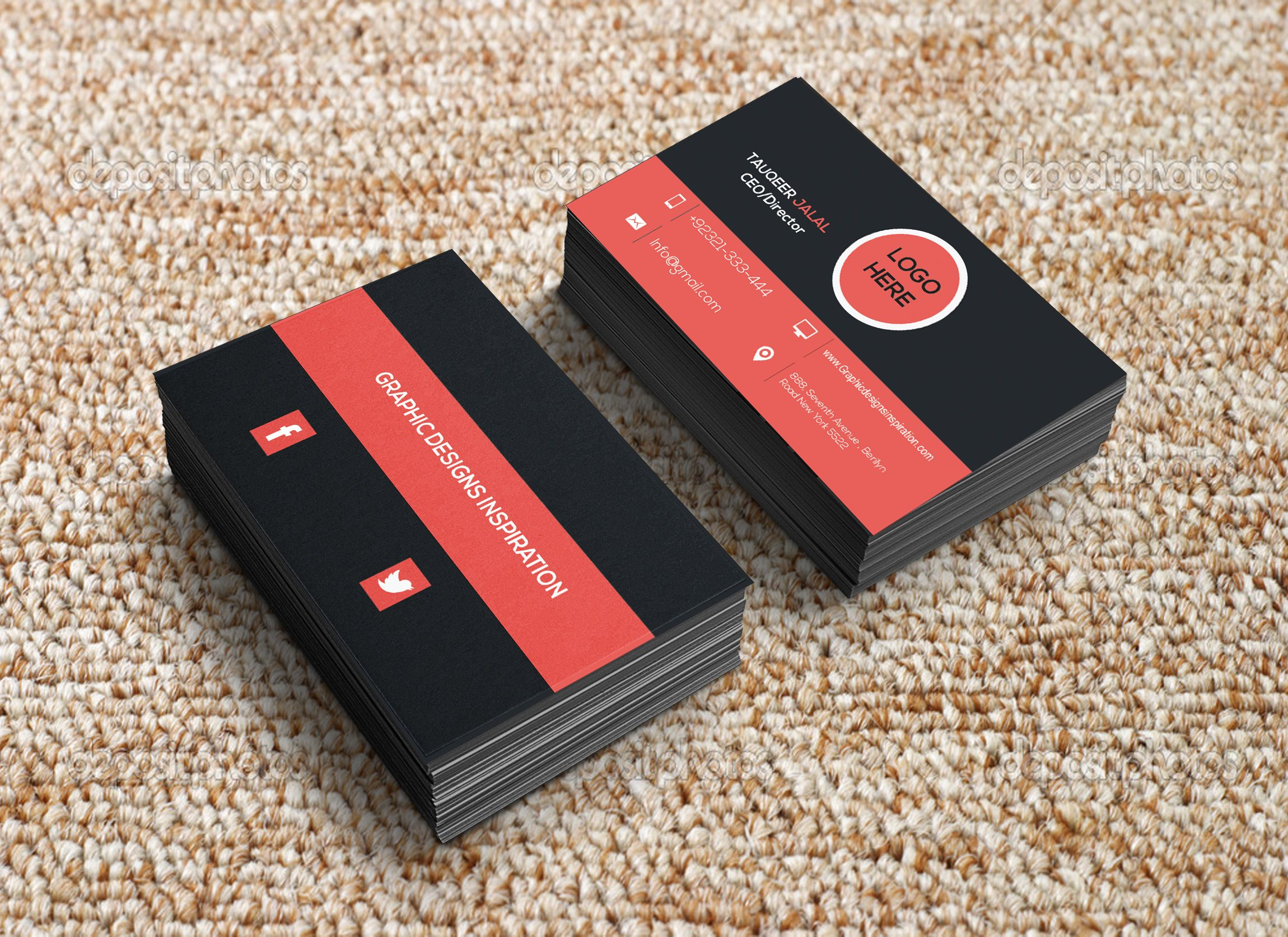 professional business cards design templates
