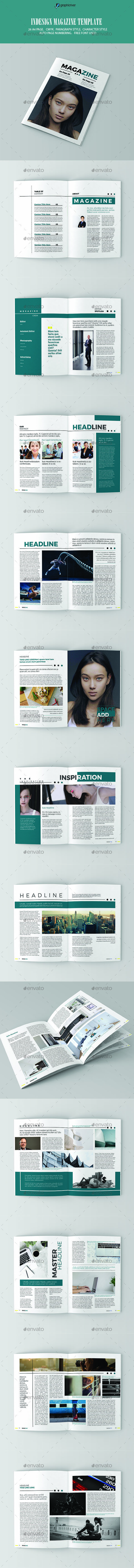 InDesign Magazine Template 01   Diseño editorial, Editorial y Revistas