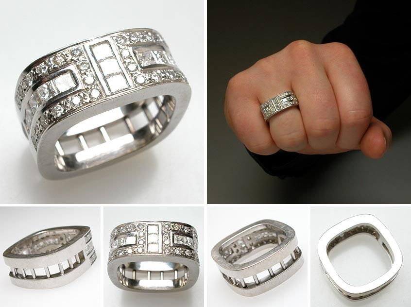 The Blend Of Ancient And Modern In Versace Wedding Rings Celebritycelebrity Mens Bands Fashion