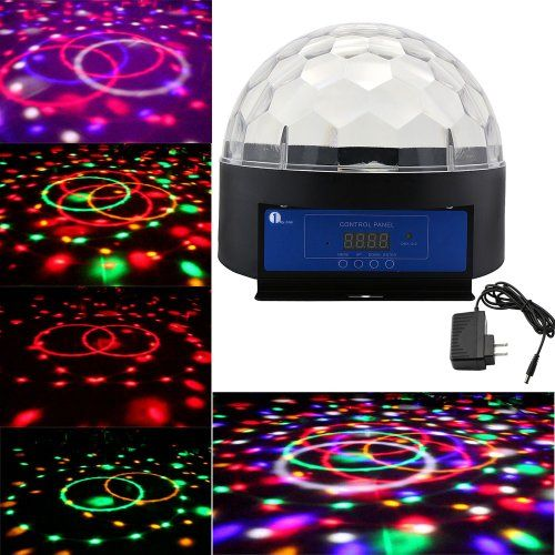 1byone® 7.2  Crystal Sound Activated Move to Music LED Dome Light Stage Light Christmas  sc 1 st  Pinterest & 1byone® 7.2