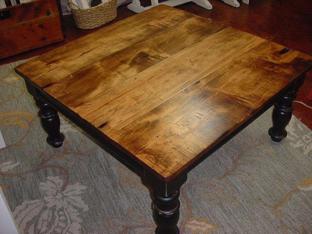 Elegant Maple Top Coffee Table