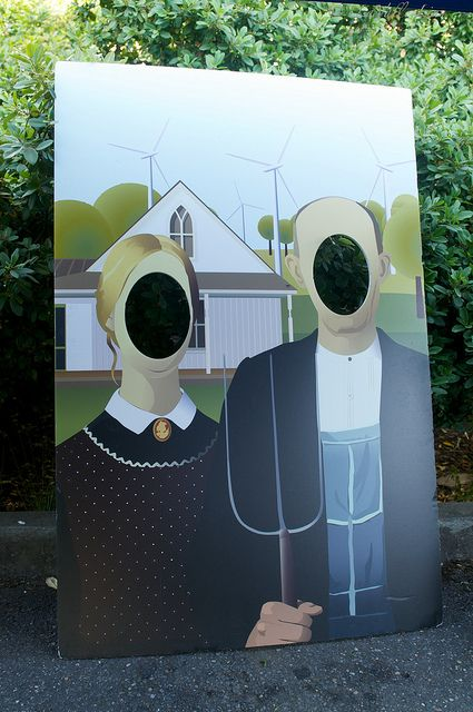 American Gothic Wind Power American Gothic Grant Wood