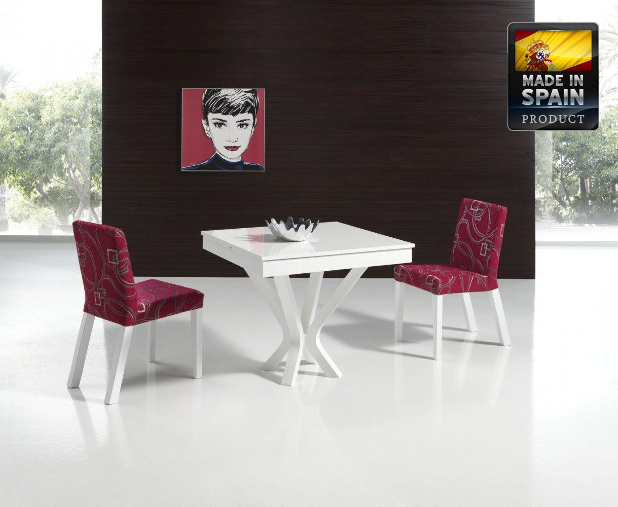 Mesa de Comedor Cuadrada Extensible Blanca en Demarques.es | Cosas ...
