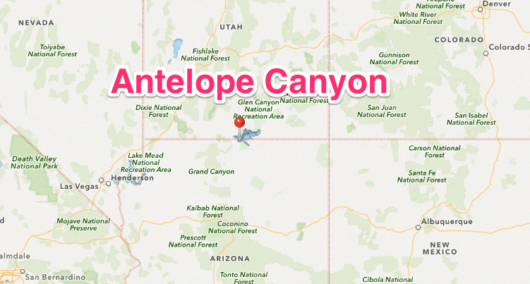 Antelope Canyon Map | Vacations!! | Pinterest | Antelope canyon