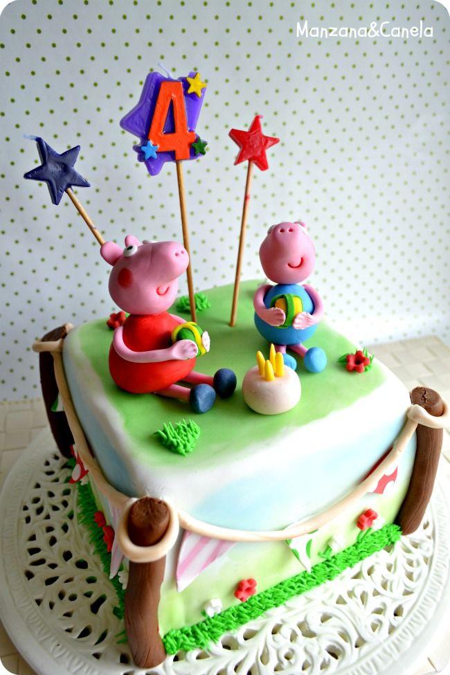 Manzana Tarta De Peppa Pig Para El Cumpleaños De Sara Tartas De Peppa Pig Tartas Tortas Pasteles De Cupcakes