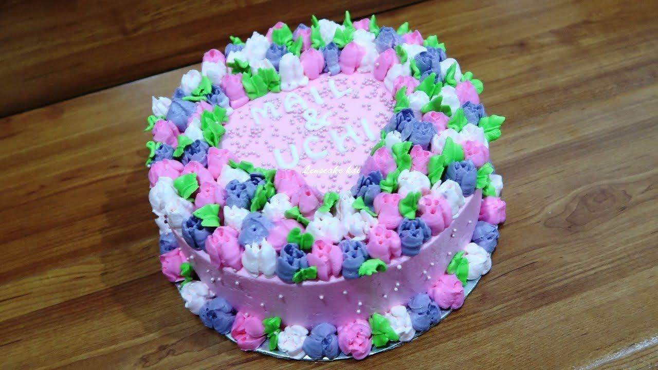 Gambar Bunga Kue Ulang Tahun Dengan Gambar