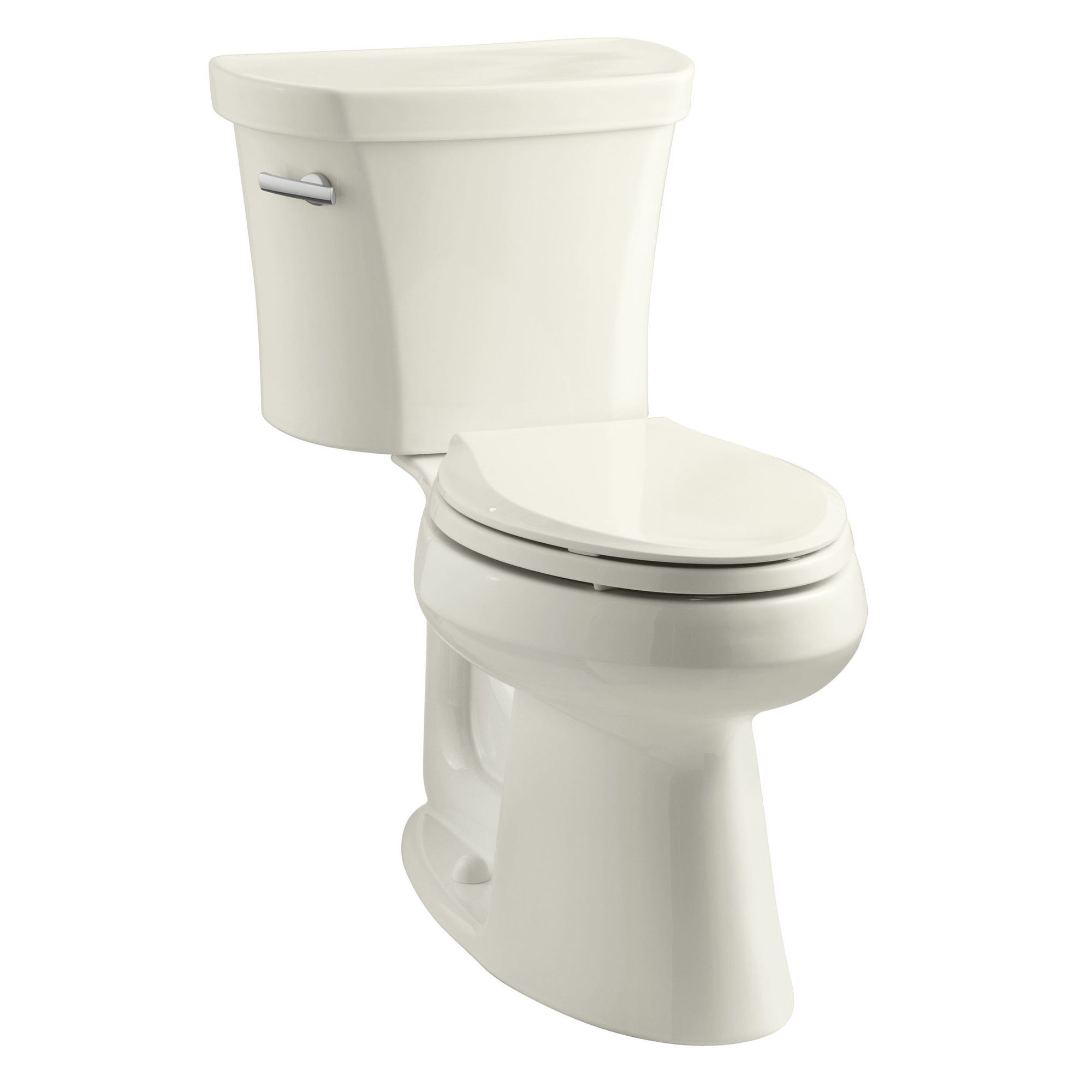 Highline Comfort Height Two-Piece Elongated 1.28 GPF Toilet with Class Five Flush Technology, Left-Hand Trip Lever and Tank Cover Locks